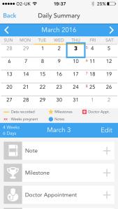 Calendar Ovia Pregnancy App