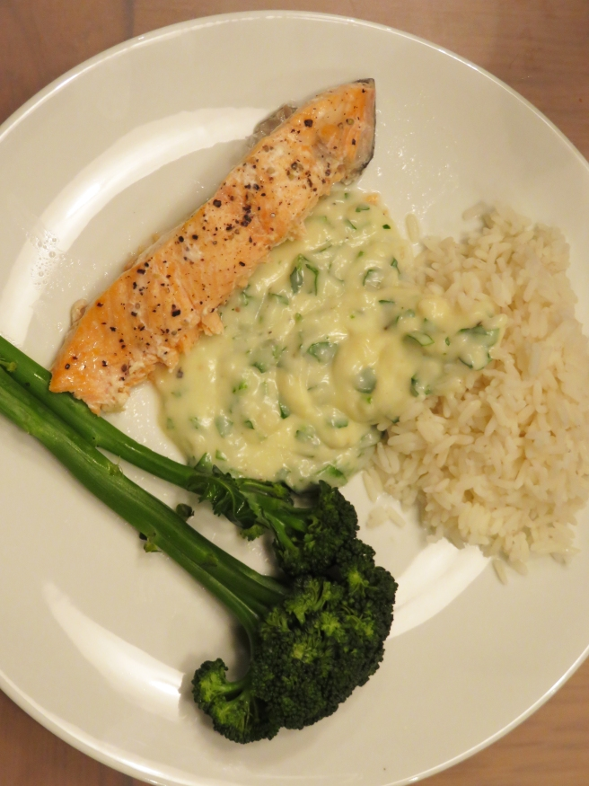 Salmon pregnancy meal
