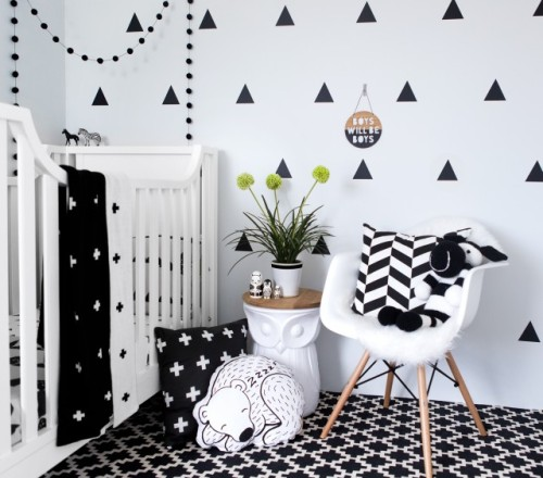 Bold prints and my personal obsession of triangle wall stickers