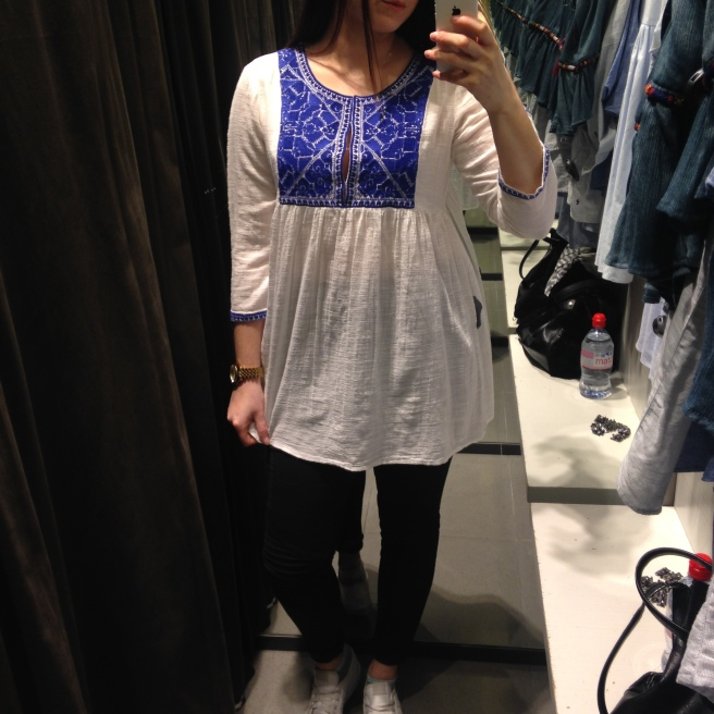 My non-maternity Zara purchase. Sorry about the changing room selfie
