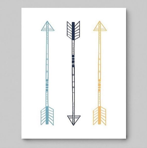Arrow nursery wall art