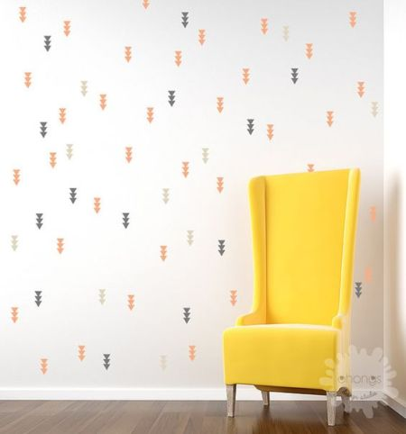 Arrow triangle wall decals