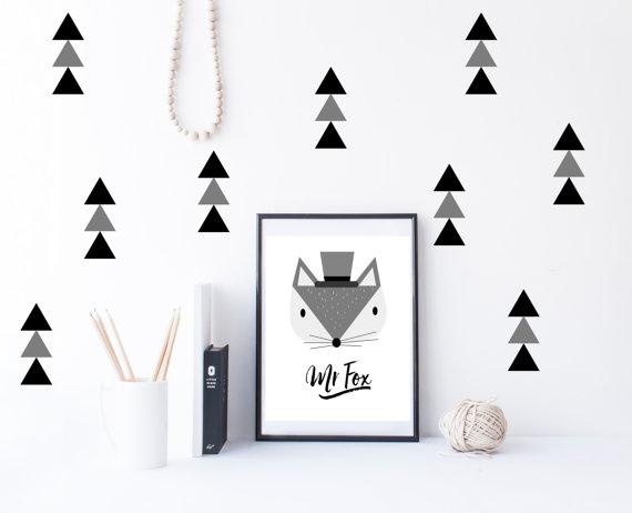arrow triangles wall decals