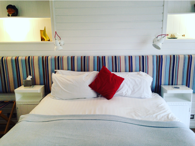 Our Coastal theme room at the Escape Boutique Hotel