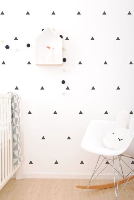 Uniform triangle wall stickers