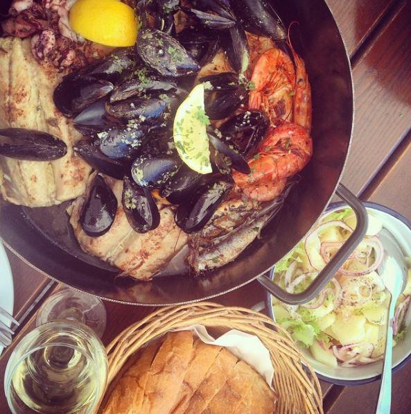 Seafood platter in Dubrovnik
