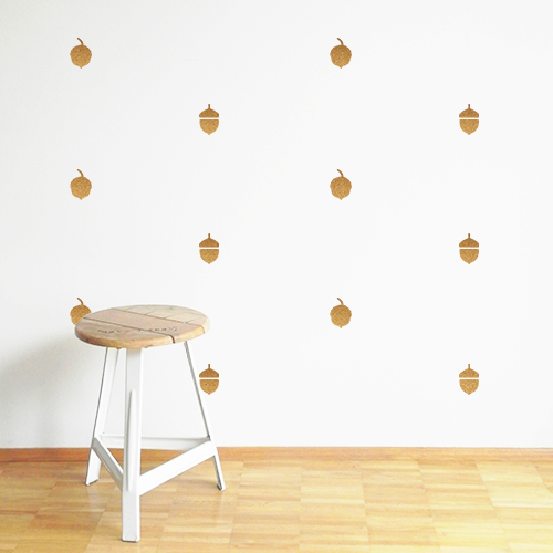 Dress the Wall for Fall with cute acorn decals