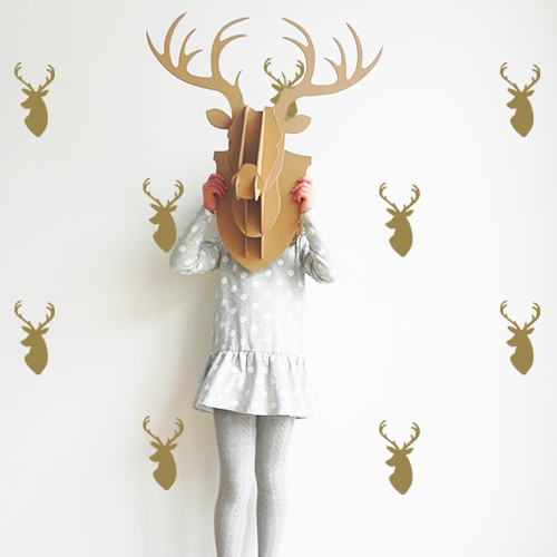 reindeer-wall-stickers-gold